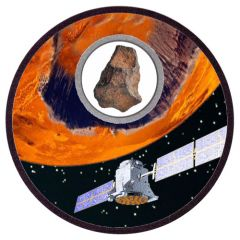 2017 Silver Mission To Mars 1 oz Proof - Real Meteorite