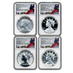 2017 American Liberty Silver NGC MS/PF-70 4 Medal Set