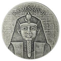 2017 Republic of Chad Pharaoh Ramesses 2 oz Silver Coin - Egyptian Relic Series