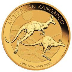 2018 Perth Mint Gold Kangaroo Coin 1/4 oz