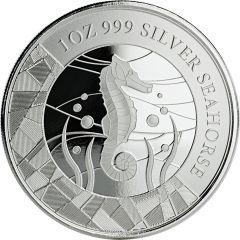 2018 Samoan Seahorse Silver Coin 1 oz