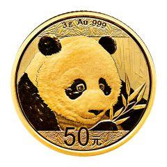 2018 3 Gram Chinese Gold Panda Coin BU
