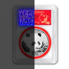 2018 30 Gram Chinese Silver Panda PCGS MS-70 First Strike Reveal Label