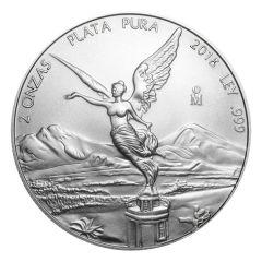 2018 Mexican Libertad Silver Coin 2 oz