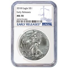 2018 NGC MS-70 Early Releases American Silver Eagle Coin