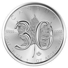 2018 Canadian Silver Maple Leaf Coin BU - 30th Anniversary