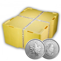 2018 Silver Maple Leafs Monster Box - 500 1 oz Coins