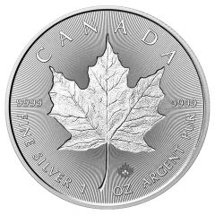 2018 Canadian Silver Incuse Maple Leaf Coin BU