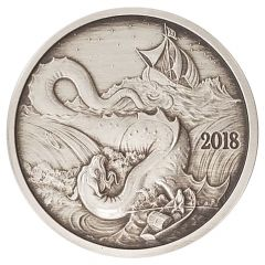 Silverbug Island Leviathan 1 oz Silver Proof Antiqued Finish