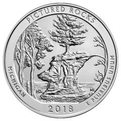 2018 Pictured Rocks ATB 5 oz Silver - America The Beautiful
