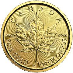 2018 1/10 oz Canadian Gold Maple Leaf Coin BU