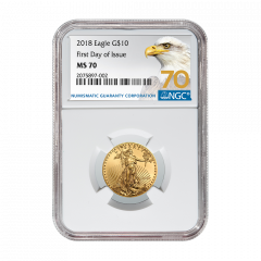 2018 1/4 oz NGC MS-70 First Day Of Issue Gold American Eagle (70 Label)
