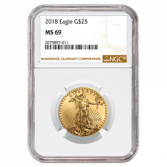 2018 1/2 oz NGC MS-69 Gold American Eagle
