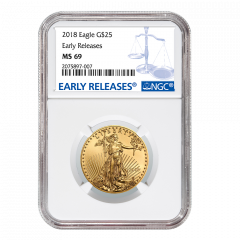 2018 1/2 oz NGC MS-69 Early Releases Gold American Eagle