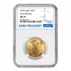 2018 1/2 oz NGC MS-70 Early Releases Gold American Eagle