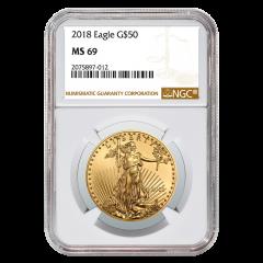 2018 1 oz NGC MS-69 Gold American Eagle