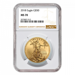 2018 1 oz NGC MS-70 Gold American Eagle