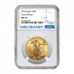 2018 1 oz NGC MS-69 Early Releases Gold American Eagle