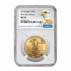 2018 1 oz NGC MS-70 First Day of Issue Gold American Eagle (70 Label)