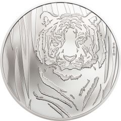2019 1/2 oz Mongolia Hidden Tiger Silver Coin