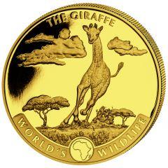 2019 1 oz Geiger The Giraffe Gold Coin - World's Wildlife (First Issue)