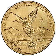 2019 1/2 oz Mexican Gold Libertad Coin (BU)