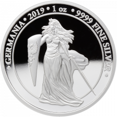 2019 1 oz Germania Proof Silver Coin - 5 Mark
