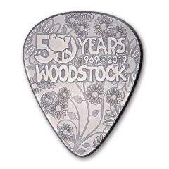 2019 1/4 oz Woodstock Guitar Pick Silver Coin