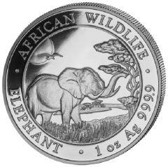 2019 Somalian Elephant Silver Coin 1 oz