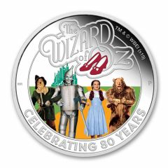 2019 Tuvalu 1 oz Wizard of Oz™ 80th Anniversary Silver Proof Coin