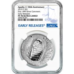 2019 NGC PF-70 Apollo 11 Silver Dollar - Early Releases