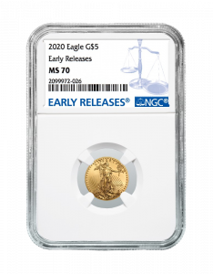 2020 1/10 oz NGC MS-70 ER American Gold Eagle Coin