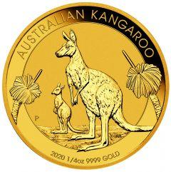 2020 1/4 oz Australian Gold Kangaroo Coin BU