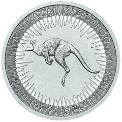 2020 1 oz Australian Platinum Kangaroo Coin BU