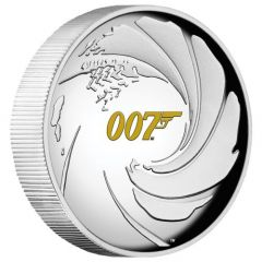 2020 1 oz James Bond 007 Proof Silver Coin - High Relief