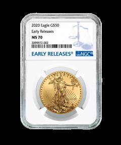 2020 1 oz NGC MS-70 ER American Gold Eagle Coin