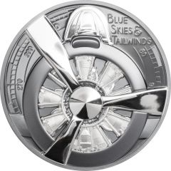 2020 2 oz Airplane Propeller Proof Silver Coin