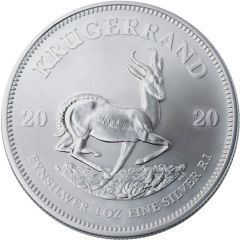 2020 1 oz South African Silver Krugerrand Coin