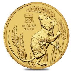 2020 1 oz Year of the Mouse Gold Coin - Perth Mint Lunar Series III