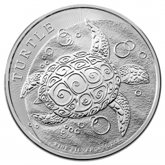 2016 2 oz Niue Turtle Silver Coin