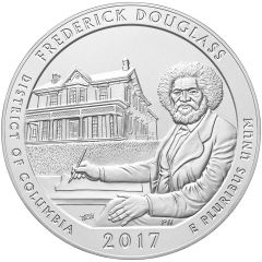 2017 Frederick Douglass 5 oz Burnished Silver Coin - America The Beautiful