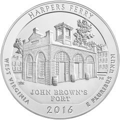 2016 Harpers Ferry 5 oz Burnished Silver - America The Beautiful
