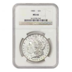 Pre-1921 NGC MS-66 Morgan Silver Dollar - Random Year