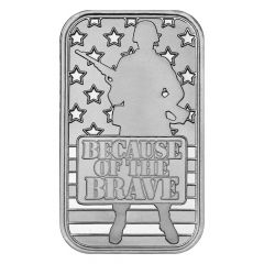 Because of the Brave 1 oz Silver Bar