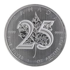 2013 Silver Canadian Maple Leaf – 25th Anniversary