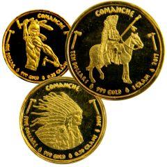 Native American Mint - Gold Comanche Fractional Gram Set