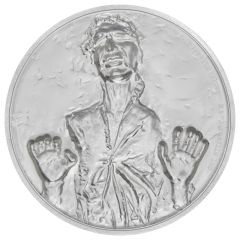 2017 Star Wars Han Solo High Relief 2 oz Silver Proof Coin