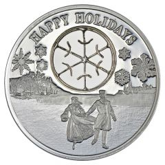 1 oz Silver Proof Coin - 2017 Happy Holidays Ice Skaters