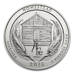 2015 Silver 5 oz ATB Homestead America The Beautiful