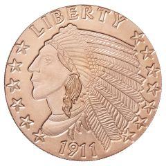 Incuse Indian 1 oz Copper Round - Osborne Mint